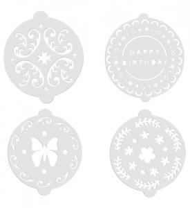 SET 8 PLANTILLAS PARA DECORAR TARTAS